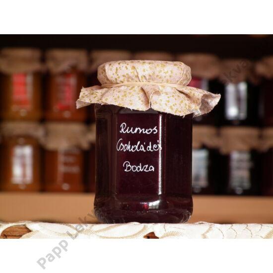 Rumos-Csokoládés Bodza gyümölcsdesszert
